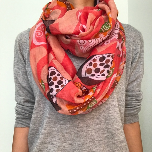 a501c2d34 Accessories | Heart Print Womens Infinity Scarf | Poshmark